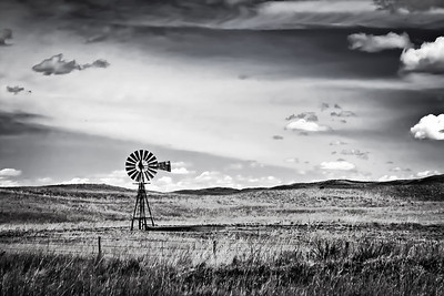 Old #4 - Windmill on the Nebraska plains This particular windmill has a 4 painted on it I wonder how many there are.   The Nebraska Sandhills is the place to be for windmill spotting.