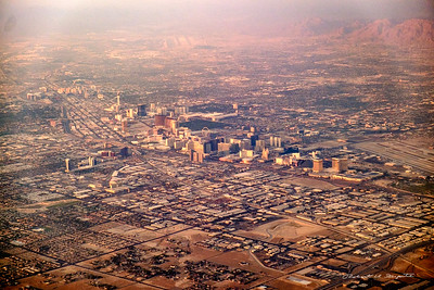 Las Vegas at sundown