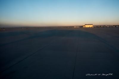 Long shadows at sunrise, ABQ airport.