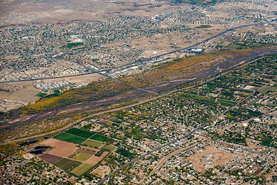 The Rio Grande River and bosque, Albuquerque, NM.