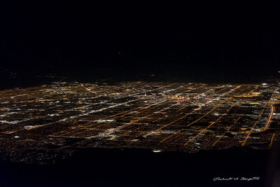 And suddenly out of the darkness is Las Vegas