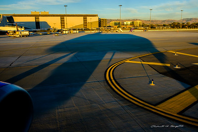 Sunset departure from San Jose
