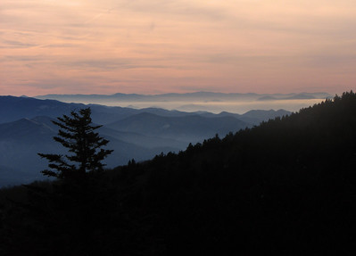 Winter dusk Roan Mountain