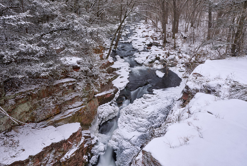 Snow, Ice and Waterfall