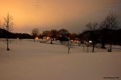 Snow night shot b
