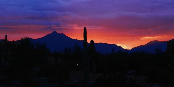 Sunset overr Estrella Mts, jan 8, 2016 1 8 2016 090