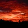 Sunset, from South Mt, Phoenix, AZ, jan 16, 2016 DSCN9666
