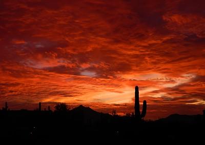 Sunset, from South Mt, Phoenix, AZ, jan 16, 2016 DSCN9654