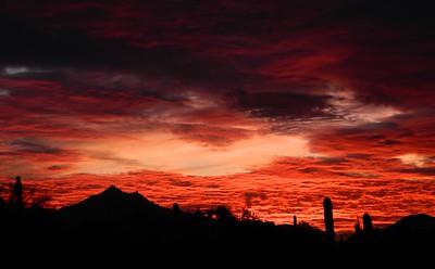 Sunset, from South Mt, Phoenix, AZ, jan 16, 2016 DSCN9670