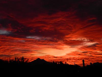 Sunset, from South Mt, Phoenix, AZ, jan 16, 2016 DSCN9667