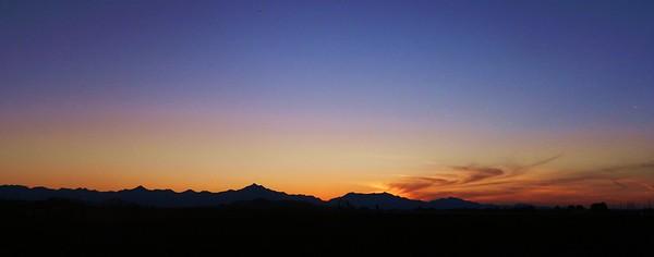 Sunset over Estrella Mts, jan 14, 2016 DSCN9626