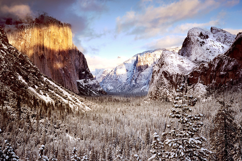 Winter Sunset - Yosemite National Park, California