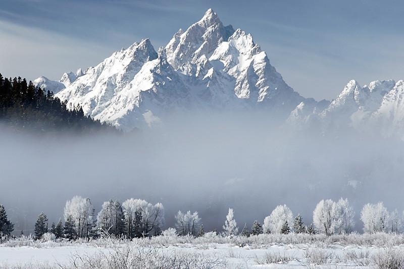 Fog and the Tetons - Grand Teton National Park - Wyoming