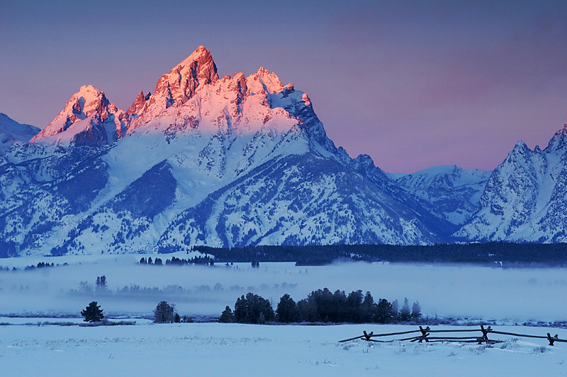 Sunrise and Snow - Grand Teton National Park, Wyoming