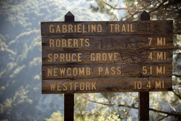 Apparently there are a lot of hiking options from this location.