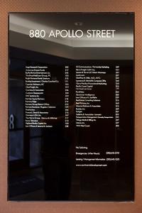 Lobby directory already lists our company name