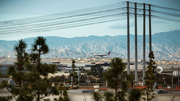 We can watch airplanes land from here...and see the Hollywood sign