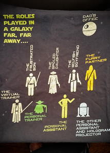 For some reason, I feel like wearing my only Star Wars t-shirt today