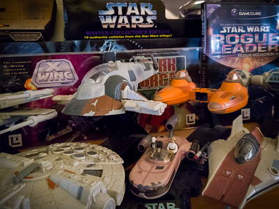 APRIL - I included a few of my favorite Star Wars games when I put out some of my Star Wars toy collection late last year...and, with more Star Wars films on the horizon, haven't felt any need to change my display