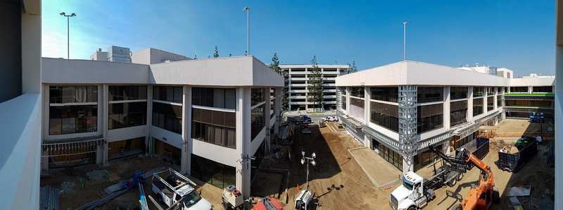 Smartphone panorama from the parking structure of 880 Apollo
