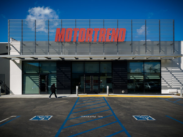 """MARCH - I wasn't 100% sure if MotorTrend left when the previous signage went away and """"The Enthusiast Network"""" signs went up.  We no longer see their cars parked in our parking structure (as though spots are now reserved for Apollo Landing).  But I guess this answers my question...TEN logos have been replaced by those of the Motor Trend Group."""
