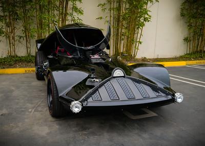 Afternoon coffee walk sighting of the Hot Wheels Darth Vader Car at Motortrend #CarsAndCoffee #HotWheels #DarthCar