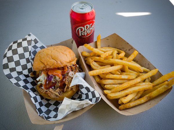 Pulled pork sandwich and fries from one of the trucks...pretty tasty