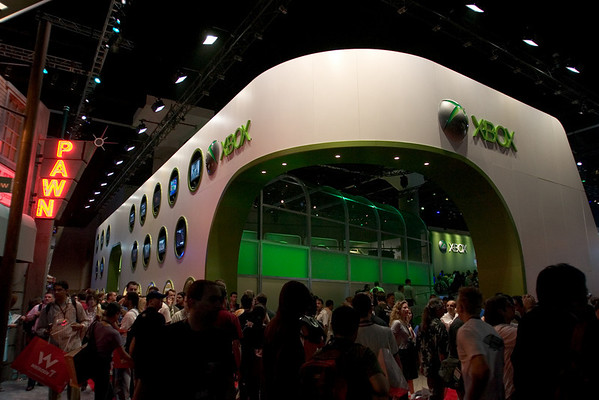 Microsoft's Xbox booth also dominates South Hall, but very few games of interest are on display