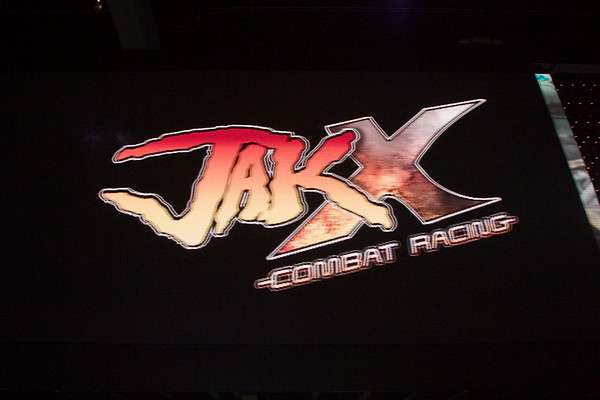 Of course, we Naughty Dog's are here to promote our latest title, Jak X...and here I catch our game running on Sony's impressive LCD display