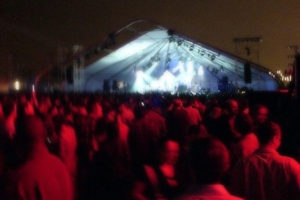 The cellphone has horrible low-light performance...and Incubus' performance is not much better