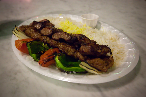 When I found out I would be attending this E3, I knew one place I absolutely had to stop for lunch: Charlie Kabob in the food court at 7th and Fig.  I grab my favorite lamb and beef combo...it never disappoints!