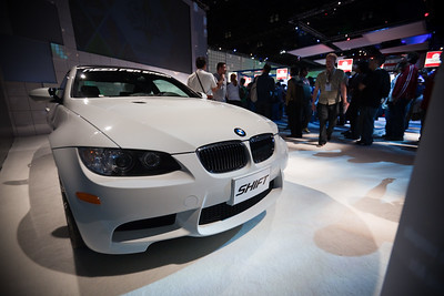 Attendees can win this BMW Z4 in EA's Need for Speed: Shift tournament