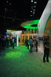 Microsoft's booth is behind EA's