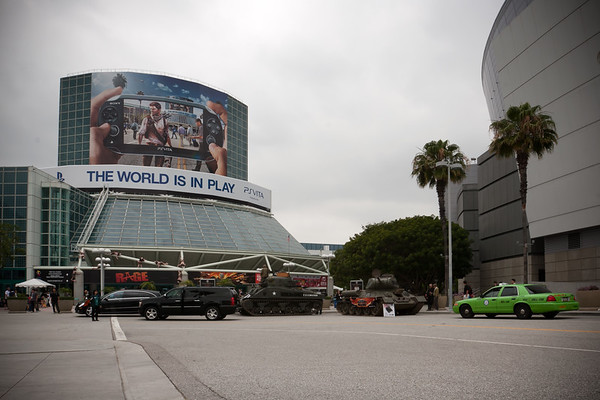 Tanks?  The Los Angeles Convention Center must have some serious security concerns