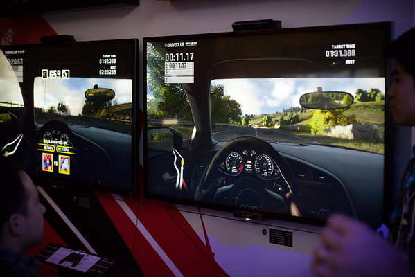 At times, it looks quite nice...but not photorealistic like Gran Turismo.  This is my first time holding the PS4 controller...feels very much like an evolution of Dual Shock 3, so I am happy with it.  The game, however, falls into the void between an arcade racer like Burnout and a sim like GT or Forza.  This is not a game I want to play