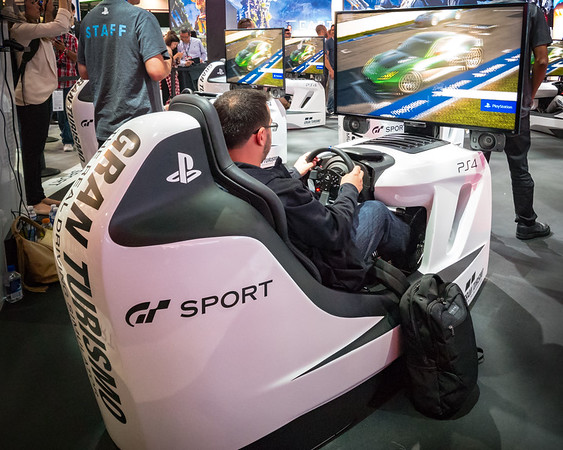 And, for me, one of the biggest reasons I am here is to check out the latest version of Gran Turismo