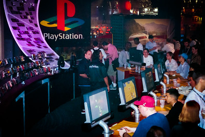 Part of the PlayStation booth looks like a bar
