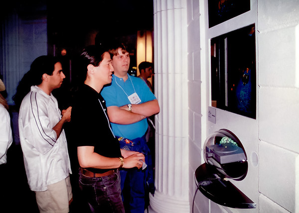 Bob Rafei, Greg Omi, and Stephen White look concerned about our demo