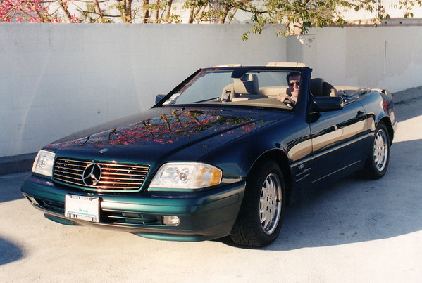 Andy, the other of Naughty Dog's cofounders, parks his 1999 Mercedes Benz SL600.  Shortly after Andy bought the 600, I got to drive her from the Mercedes dealership to the office.  (Winter 1998)