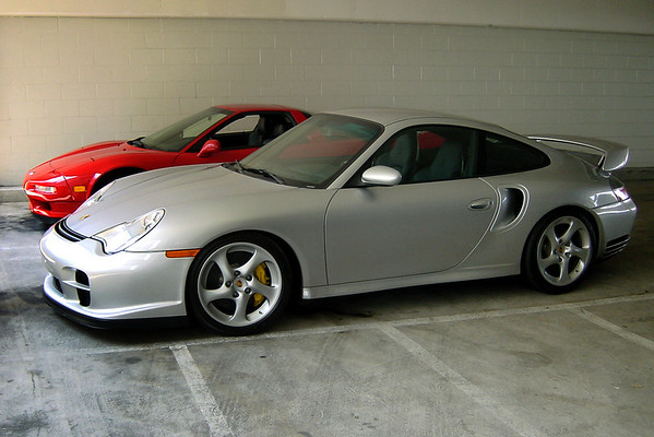 I use Jason's Porsche 911 GT2 as a shield
