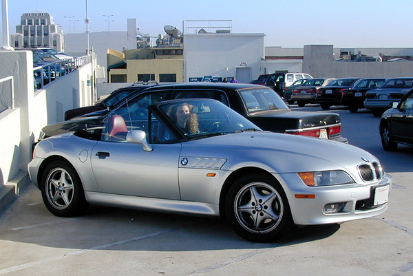 Charlotte and her BMW Z3 roadster (November, 1999)