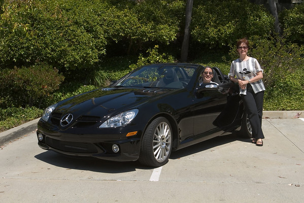 Greg and Celina show off their new toy
