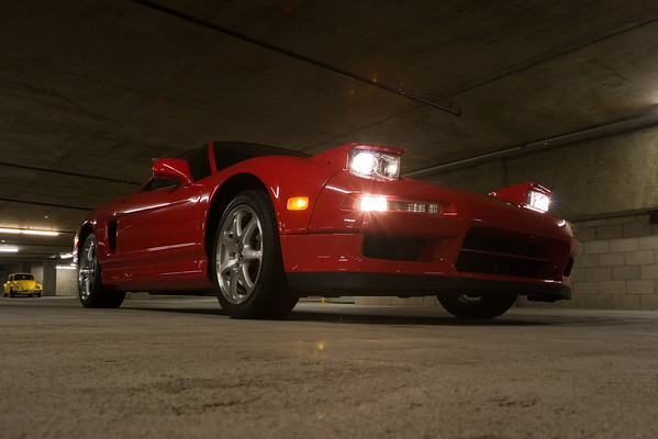 I think this may be the first shot I have of my NSX with the headlights on