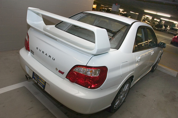 Here's a closer look at the STI's big ass wing