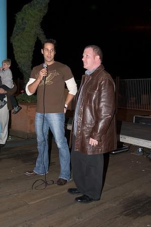 Jason takes the microphone