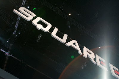 Lens flare at the Square-Enix booth
