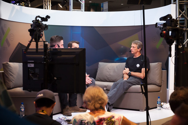 Tony Hawk is getting interviewed.  Apparently a fifth installment of his once popular skating video game series will be coming out in September.