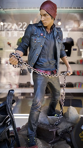 They also have a Delsin statue (from inFAMOUS Second Son)