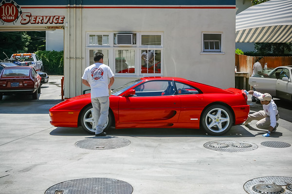 Jason's F355GTS gets freshly washed at Canyon Service ahead of our photo shoot