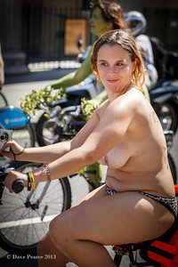 Naked Bike rider in London